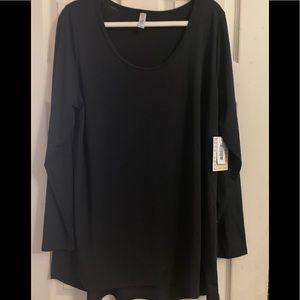 Plus size black lynnae long sleeve top new